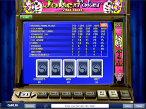 how to play online casino joker poker